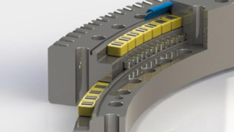 Three-row roller-bearing slewing rings